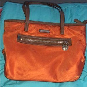Michael Kors Nylon Shoulder Purse-Orange